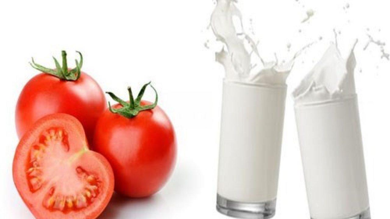 Cà chua và sữa tươi là bí quyết để mẹ bầu dưỡng trắng da toàn thân