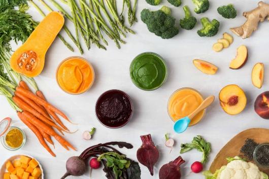 cho trẻ ăn rau
