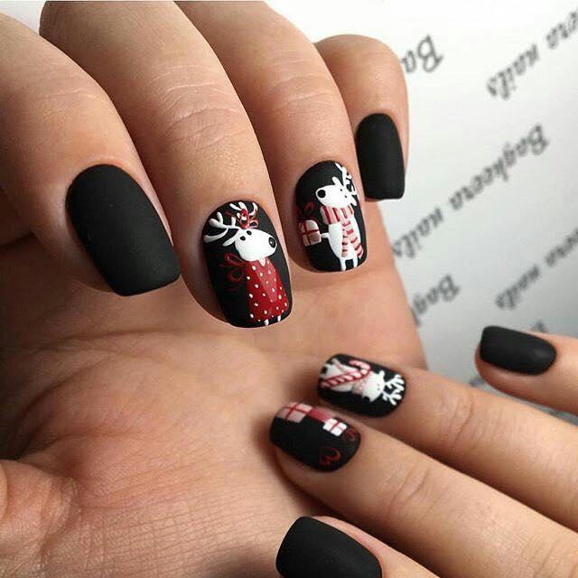 mẫu nail phong cách Giáng sinh