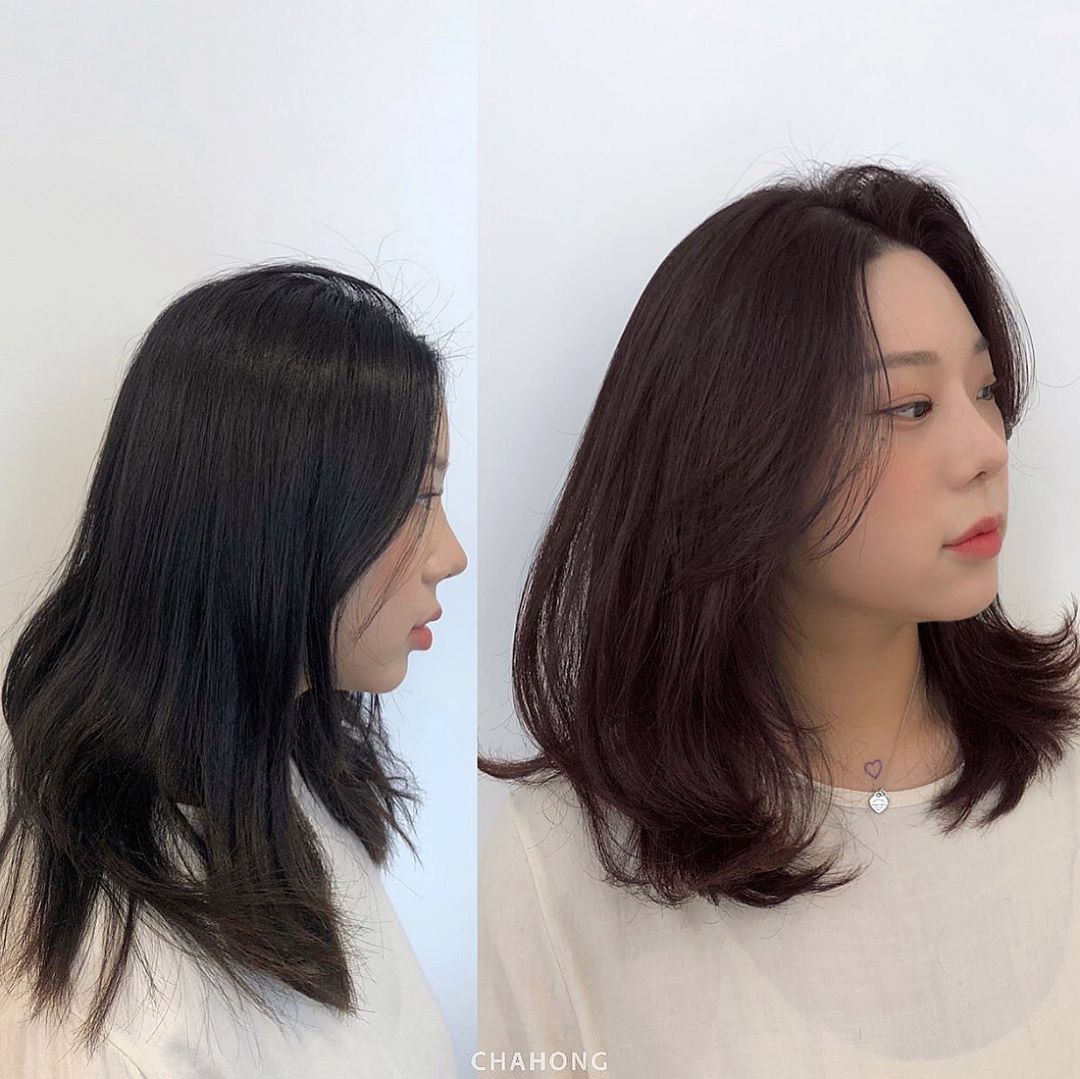 Kiểu tóc mái giúp các nàng chia mặt to, tạo góc nghiêng mềm mại