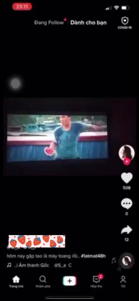 Cảnh bị quay lén tung lên mạng xã hội TikTok là một cảnh quan trọng trong phim Lật mặt: 48H