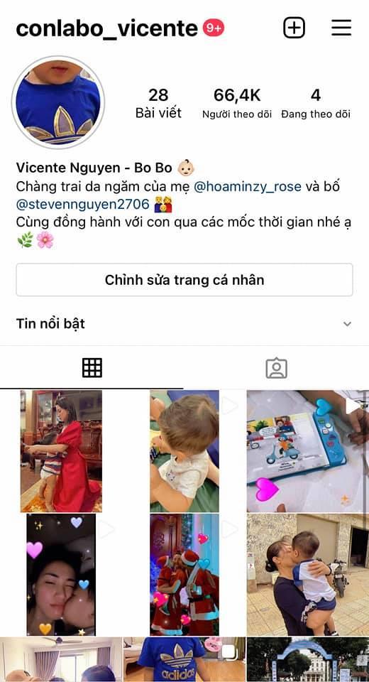 Instagram của bé Bo con trai Hòa Minzy cho các fan hâm mộ nào quan tâm
