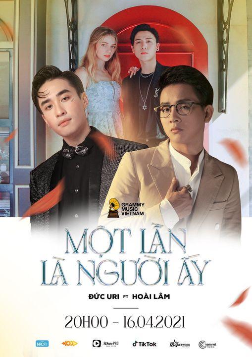 Poster ca khúc Một lần là người ấy cho thấy Hoài Lâm trở lại với âm nhạc