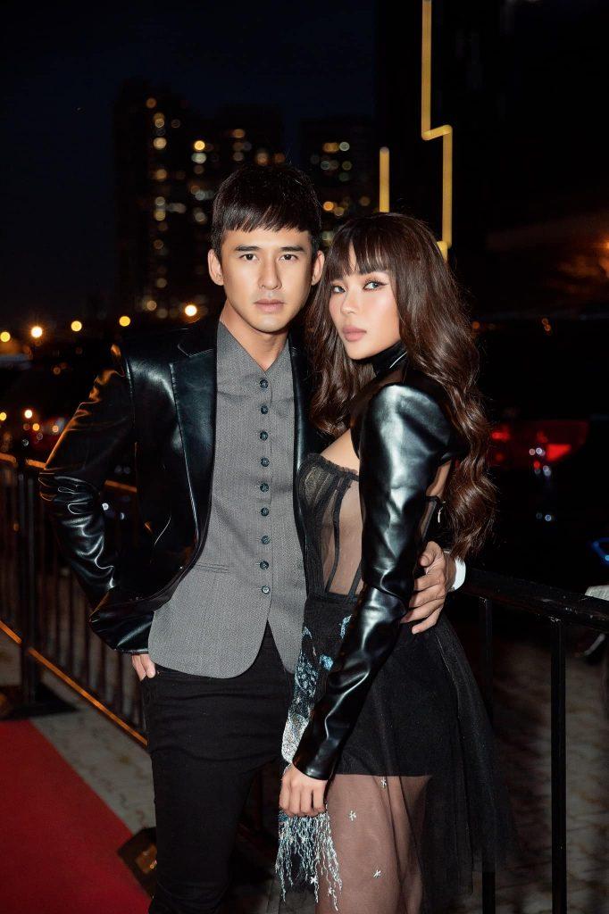 Lương Thế Thành và bà xã Thúy Diễm tại sự kiện concert Rap Việt