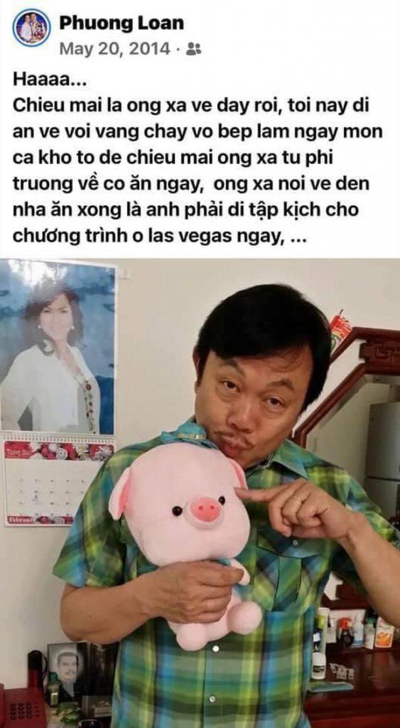 5 tháng sau khi nghệ sĩ Chí Tài qua đời, ca sĩ Phương Loan chia sẻ lại kỷ niệm xưa kèm vỏn vẹn 2 chữ mà xót xa hình 1