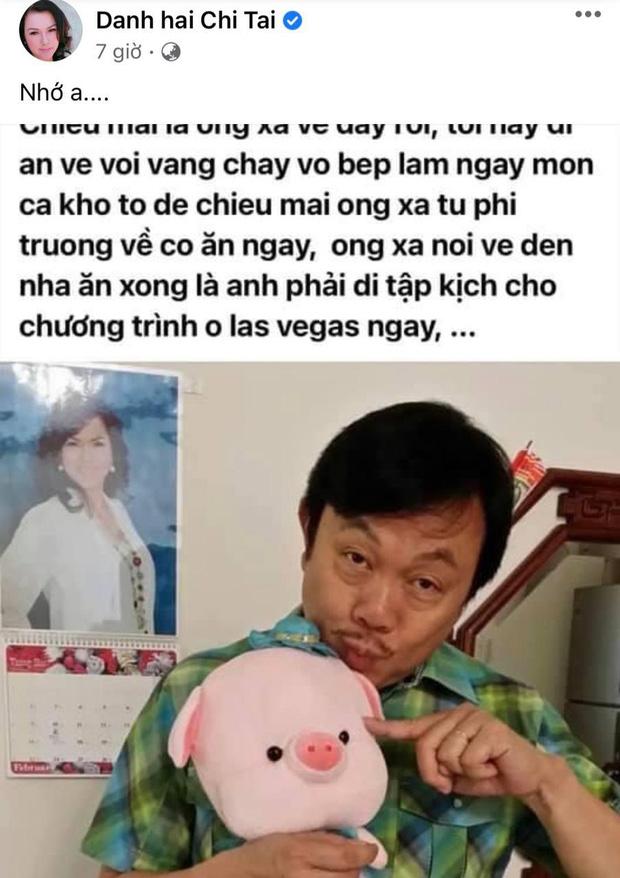 5 tháng sau khi nghệ sĩ Chí Tài qua đời, ca sĩ Phương Loan chia sẻ lại kỷ niệm xưa kèm vỏn vẹn 2 chữ mà xót xa