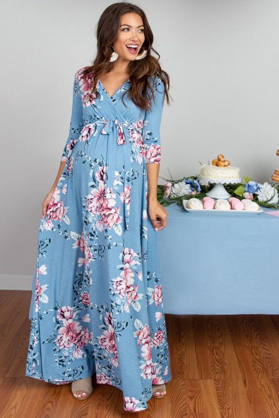 Cách chọn đồ bầu hợp với dáng người để luôn đẹp trong suốt thai kỳ-Đầm maxi
