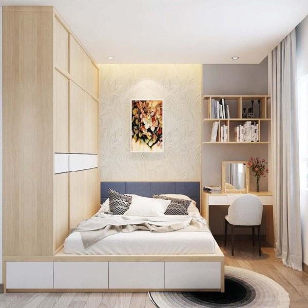 Cách trang trí phòng ngủ nhỏ đơn giản mà vẫn đẹp rụng rời hình 4