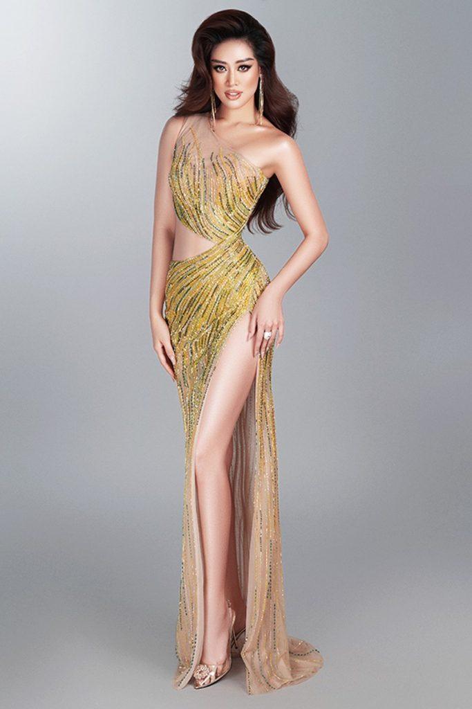 Hoa hậu Khánh Vân hé lộ bộ ảnh khoe dáng với đầm dạ hội quyến rũ hình 5
