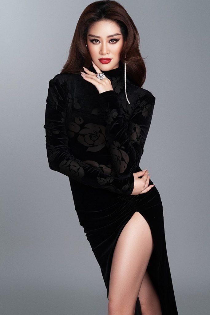 Hoa hậu Khánh Vân hé lộ bộ ảnh khoe dáng với đầm dạ hội quyến rũ hình 2
