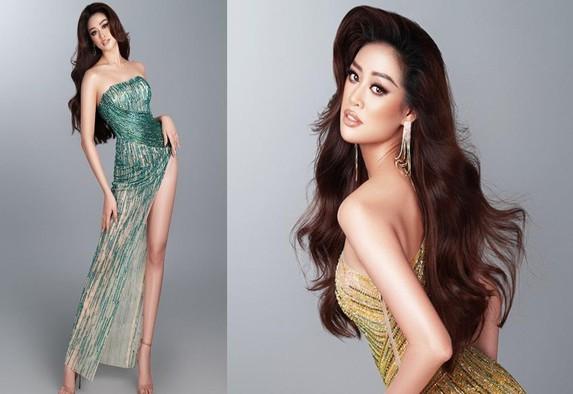 Hoa hậu Khánh Vân hé lộ bộ ảnh khoe dáng với đầm dạ hội quyến rũ