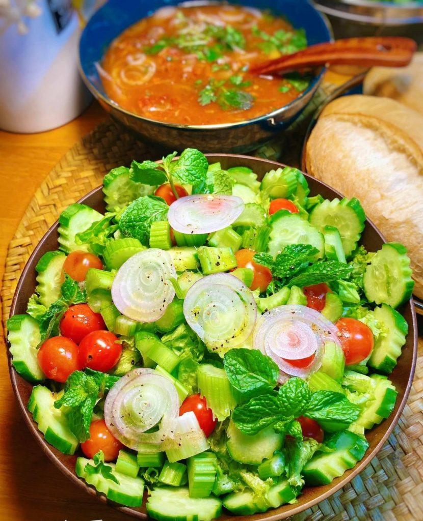 Salad rau củ hình 4
