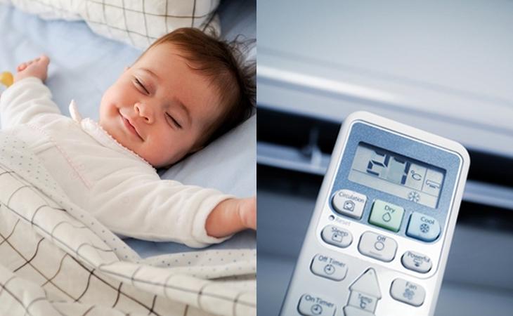 Quy tắc phòng ngừa trẻ cảm lạnh khi nằm điều hòa