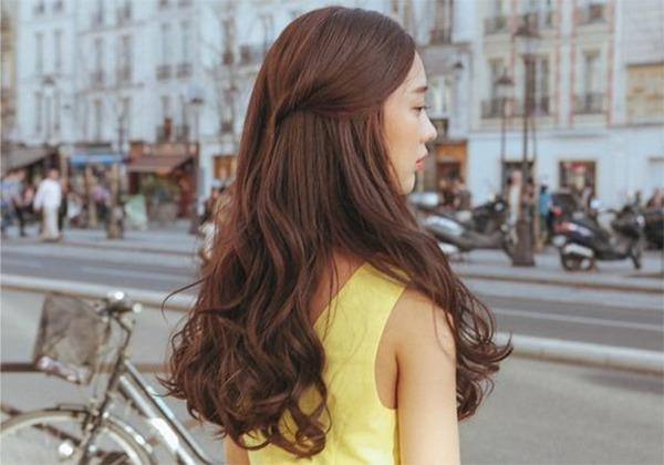 tóc dài gợn sóng nhẹ hình 2