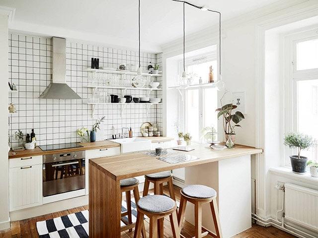 Cách trang trí phòng bếp đẹp mê ly bất chấp diện tích nhỏ