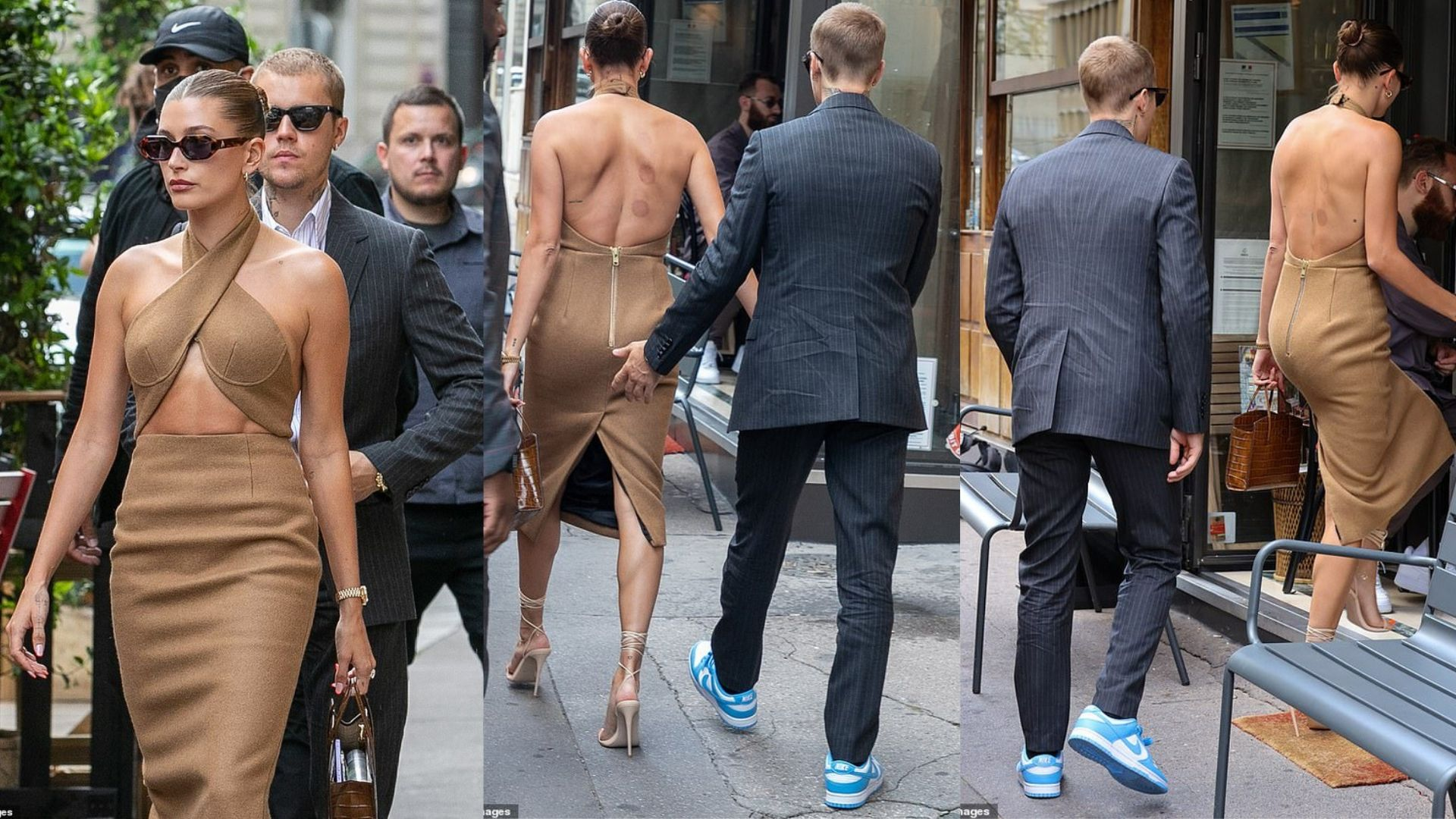Xuất hiện vết bầm trên người bà xã Justin Bieber trong dịp gặp Tổng thống