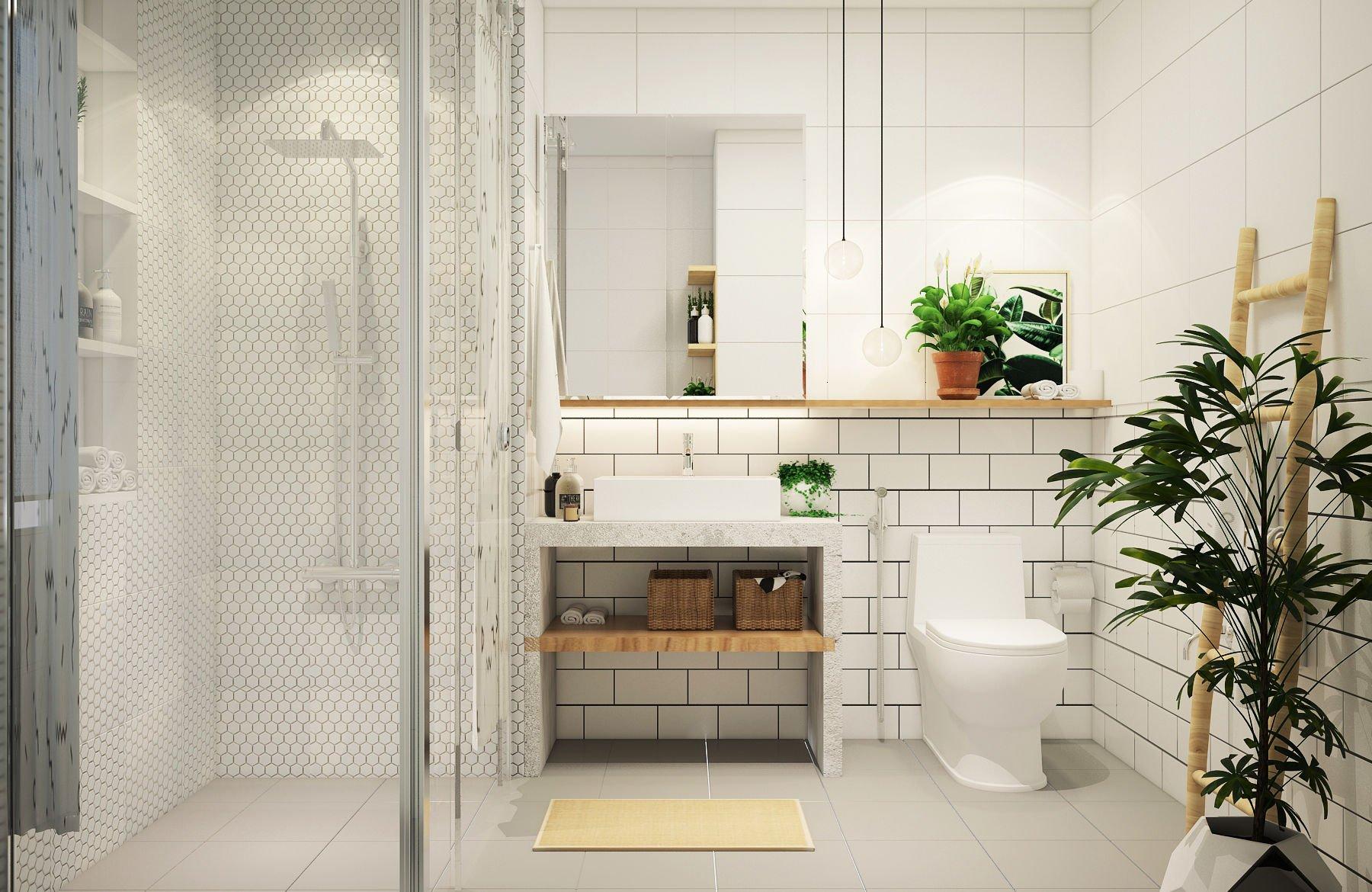 Ý tưởng decor phòng tắm đơn giản, hiện đại nhưng vẫn siêu tiết kiệm