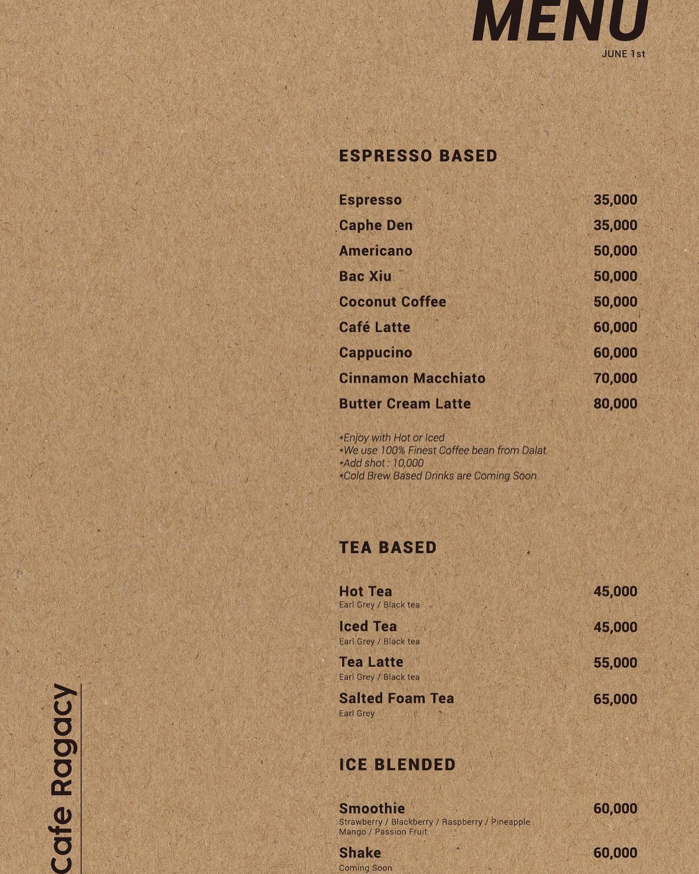 Ragacy cafe