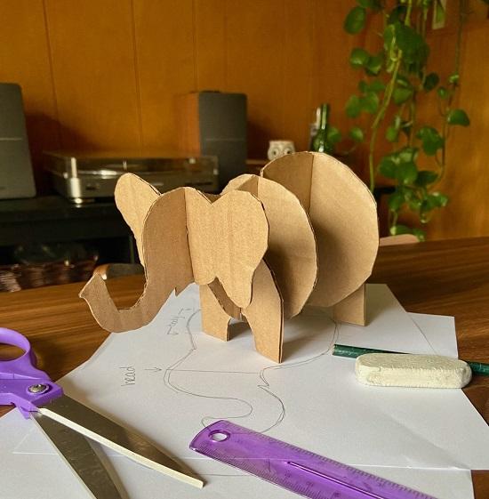con voi làm bằng bìa cứng