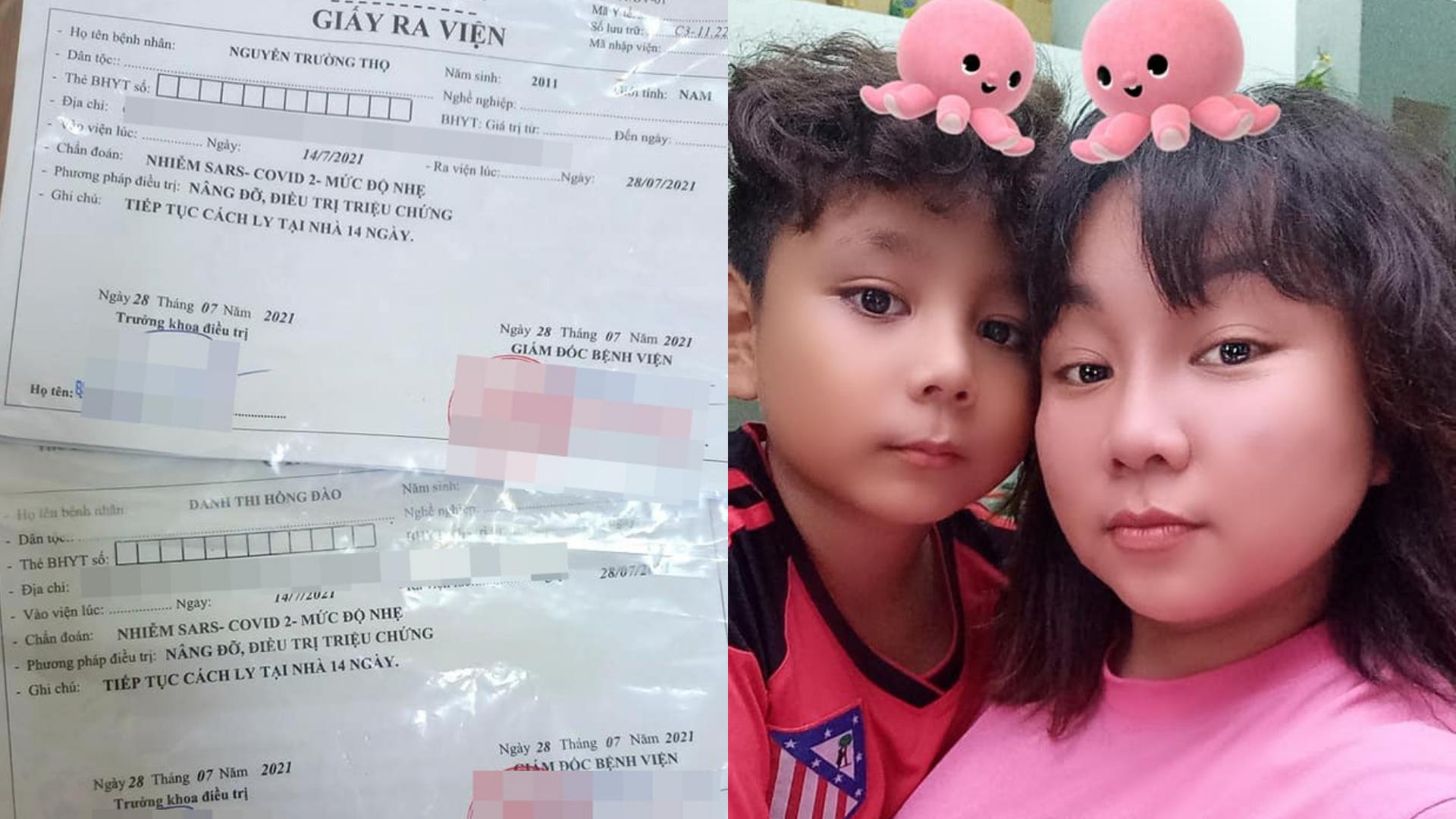 Diễn viên Kim Đào cùng cậu con trai 10 tuổi đã chữa khỏi Covid-19 sau 14 ngày điều trị