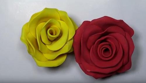 cách làm hoa hồng bằng xốp