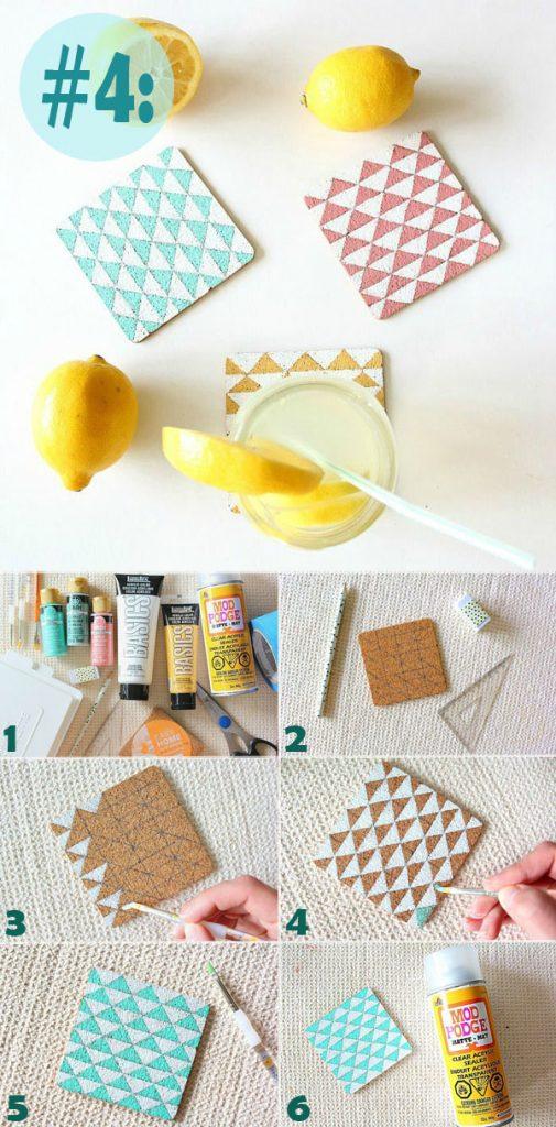 Hướng dẫn bạn 4 cách làm đế lót ly đơn giản, xinh xắn, có thể làm ngay tại nhà hình 4