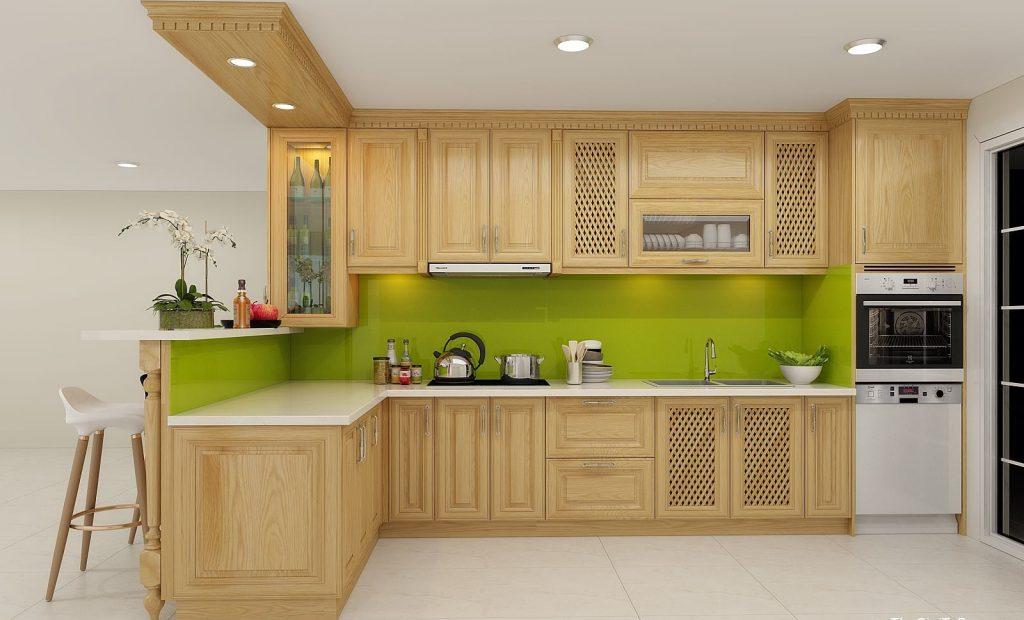 Những mẫu tủ bếp gỗ tần bì đẹp và tốt nhất hiện nay hình 1
