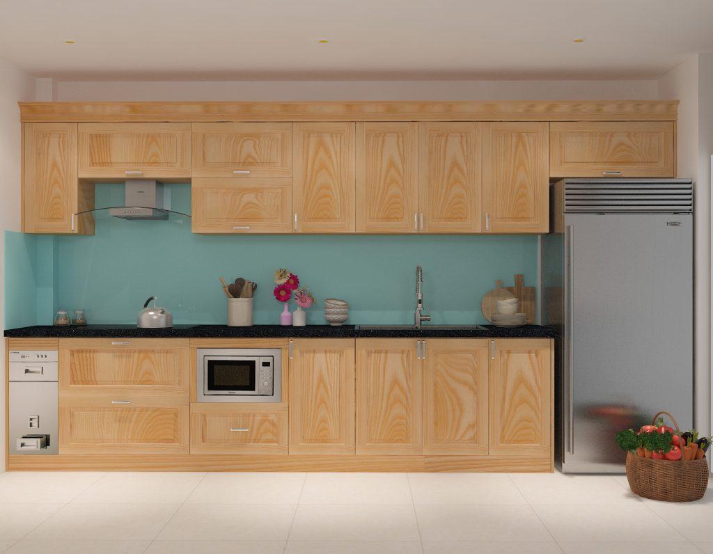 Những mẫu tủ bếp gỗ tần bì đẹp và tốt nhất hiện nay hình 2