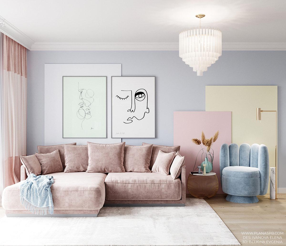Top 5 màu sơn đẹp cho phòng khách theo xu hướng hiện đại năm 2021