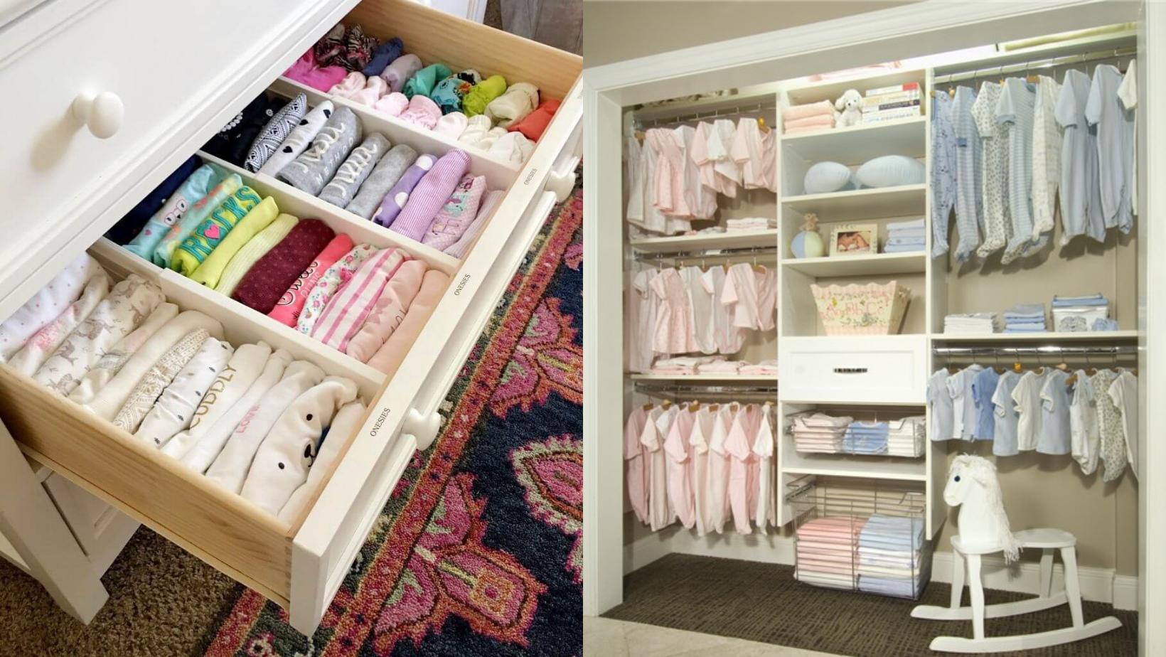 Sắp xếp tủ quần áo cho trẻ sơ sinh tiện lợi và đơn giản nhất