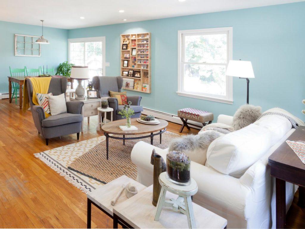 Sơn nhà màu xanh ngọc: Vẻ đẹp dịu mát và tinh tế hình 1
