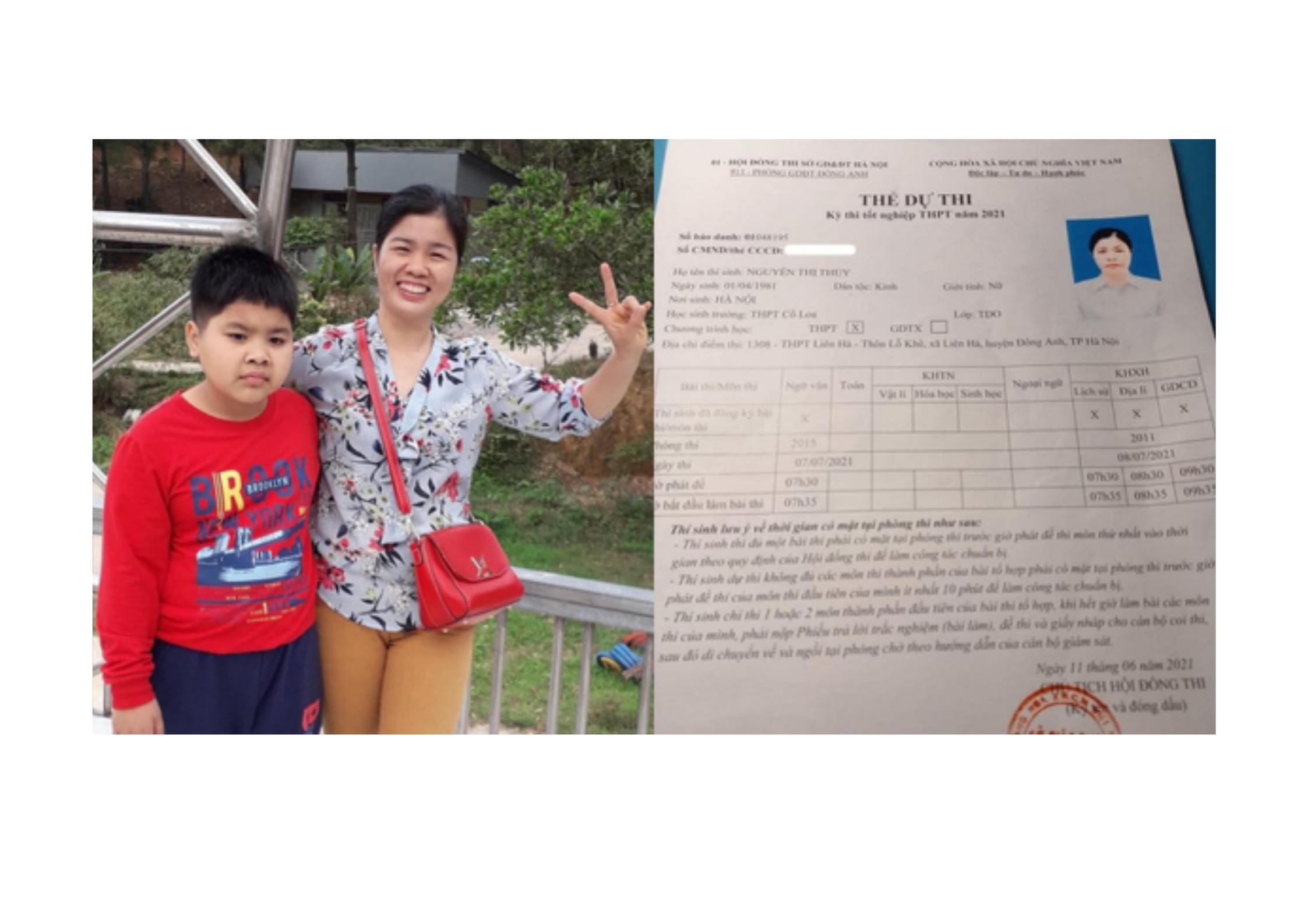 Góc mẹ nhà người ta: Người mẹ U40 tuổi đạt 27 điểm bài thi KHXH sau 21 ngày ôn luyện