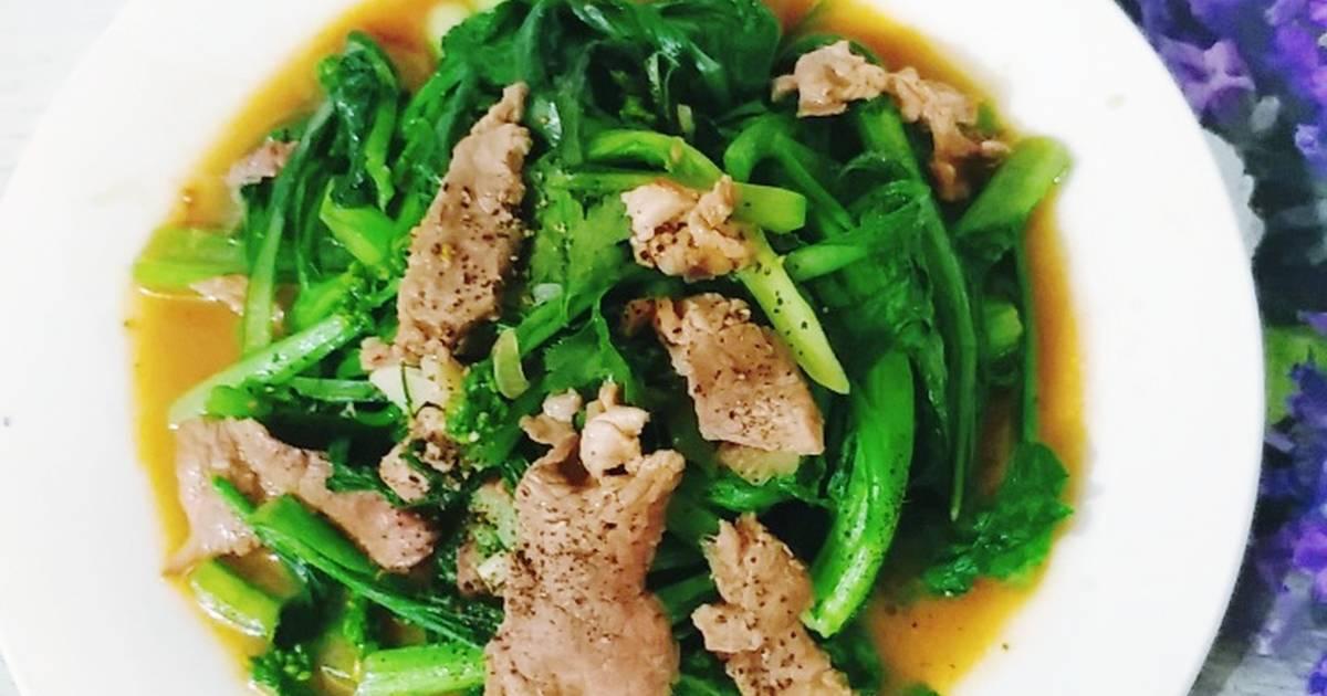 Thịt bò xào rau cải – bình dị mà ngon, dân dã nhưng ăn cực đã