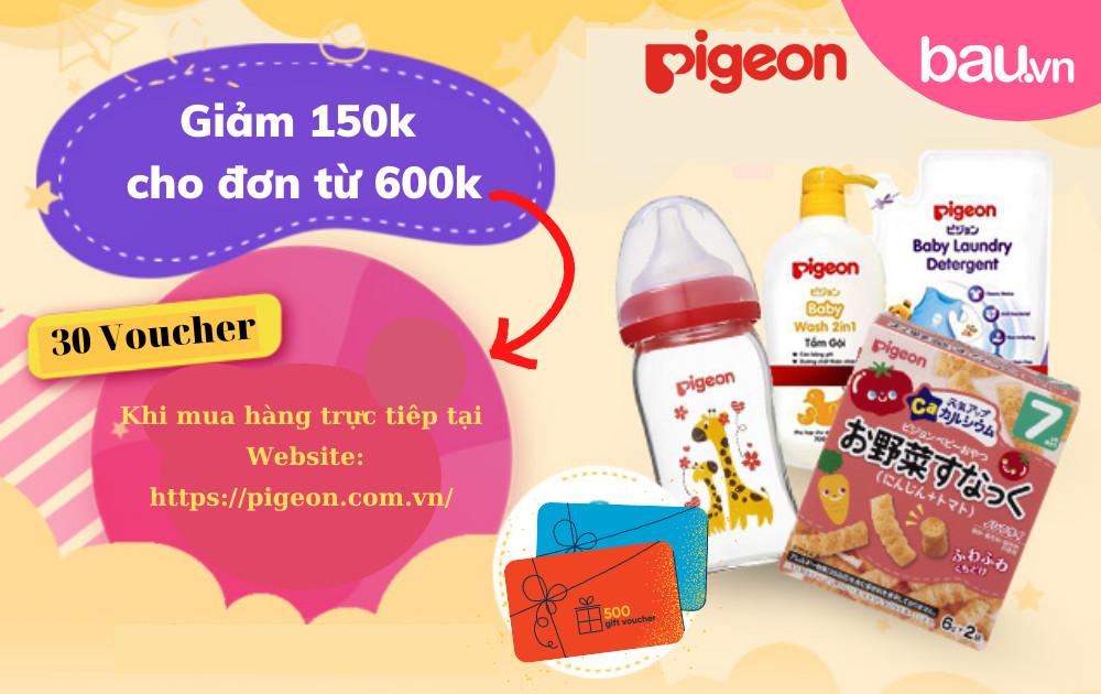 Nhận ngay voucher độc quyền của Pigeon cho độc giả Bau.vn