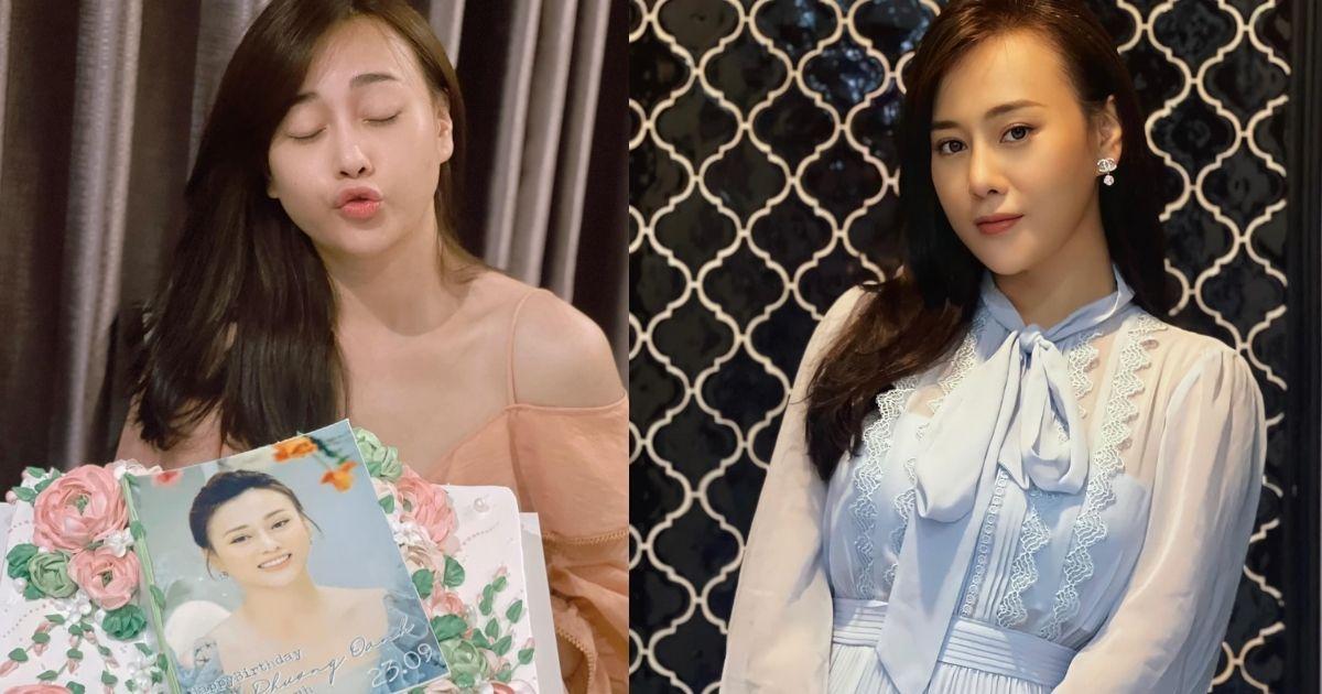 Diễn viên Phương Oanh tươi tắn đón sinh nhật tuổi 33