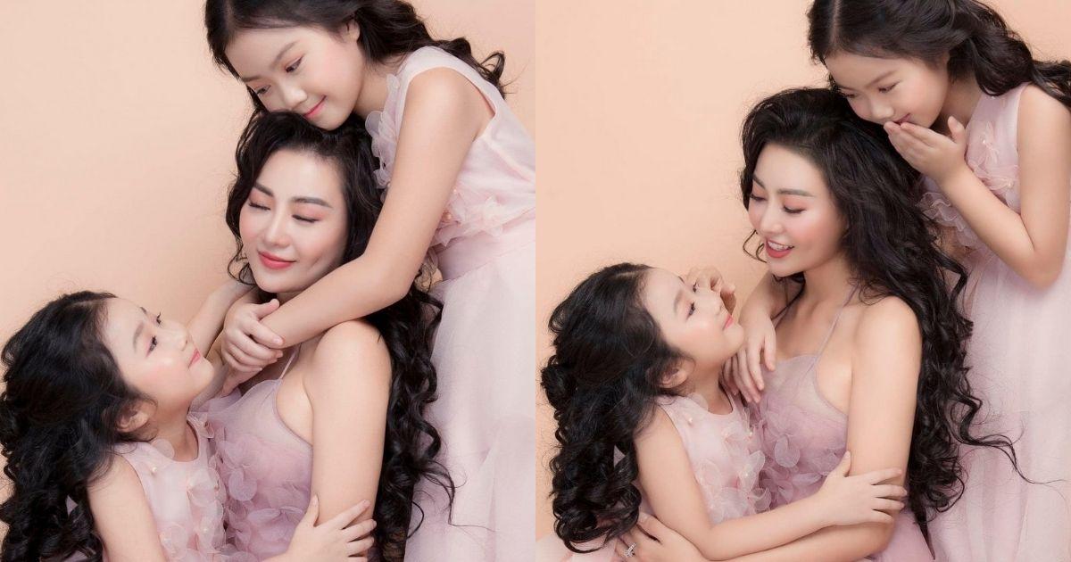 Diễn viên Thanh Hương chia sẻ hình ảnh bên hai con gái đáng yêu