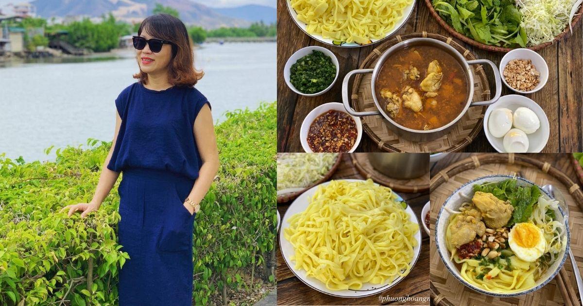 Mẹ đảm xinh đẹp tiết lộ cách nấu món mì Quảng Hội An hấp dẫn