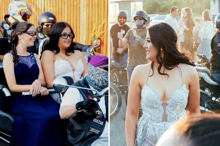 Nữ sinh được 300 biker hộ tống đi dự prom sau nhiều năm bị bạn bè bắt nạt