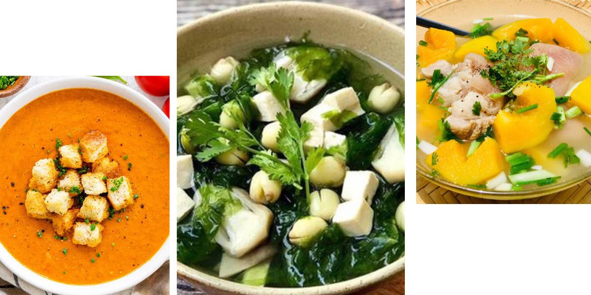 Phục hồi sức khỏe sau sinh bằng 3 món súp ngon miệng, mới lạ