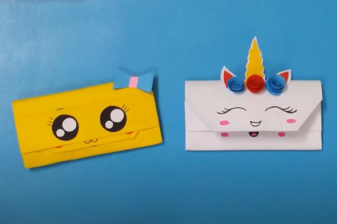 Cách làm ví bằng giấy dễ thương và độc đáo dành cho trẻ