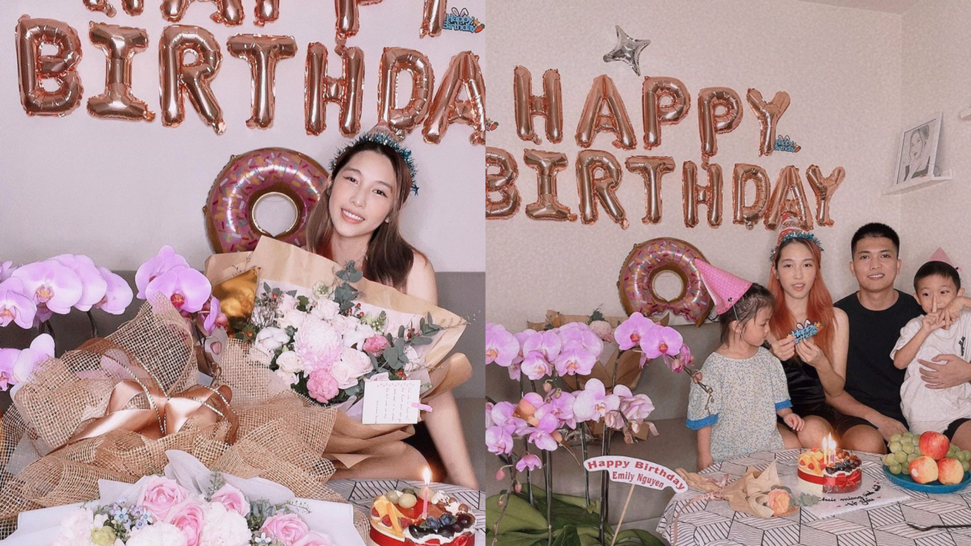 Big Daddy tổ chức sinh nhật cho Emily, còn công khai ôm hôn ngọt lịm như hồi mới yêu trên MXH
